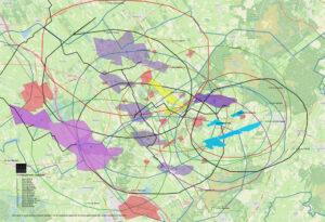 invloedcirkels gasvelden gasdrovf
